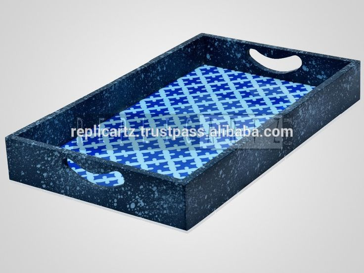 Wholesale Printed Serving Tray Resin Wooden Tray