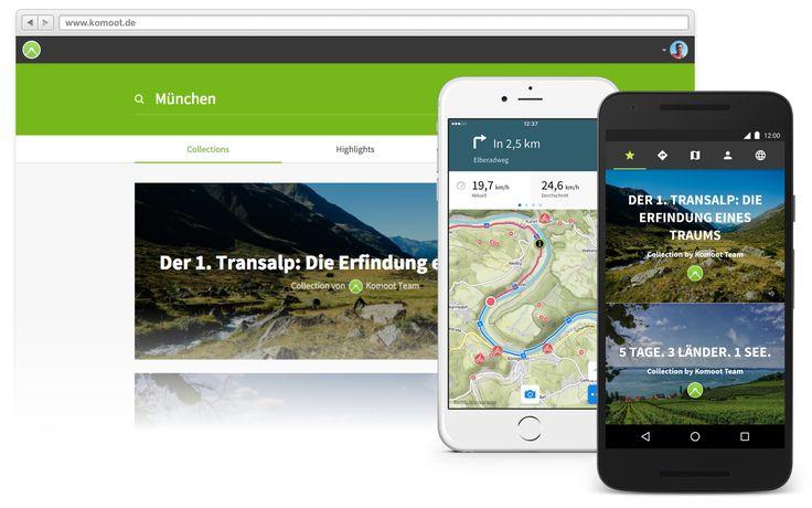 Kostenlose Routenplaner App komoot für deine nächste Fahrradtour, Wanderung oder Mountainbike Tour in St. Martin