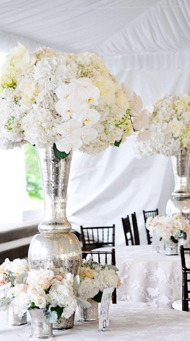 Stunning wedding centerpieces photographer andrea