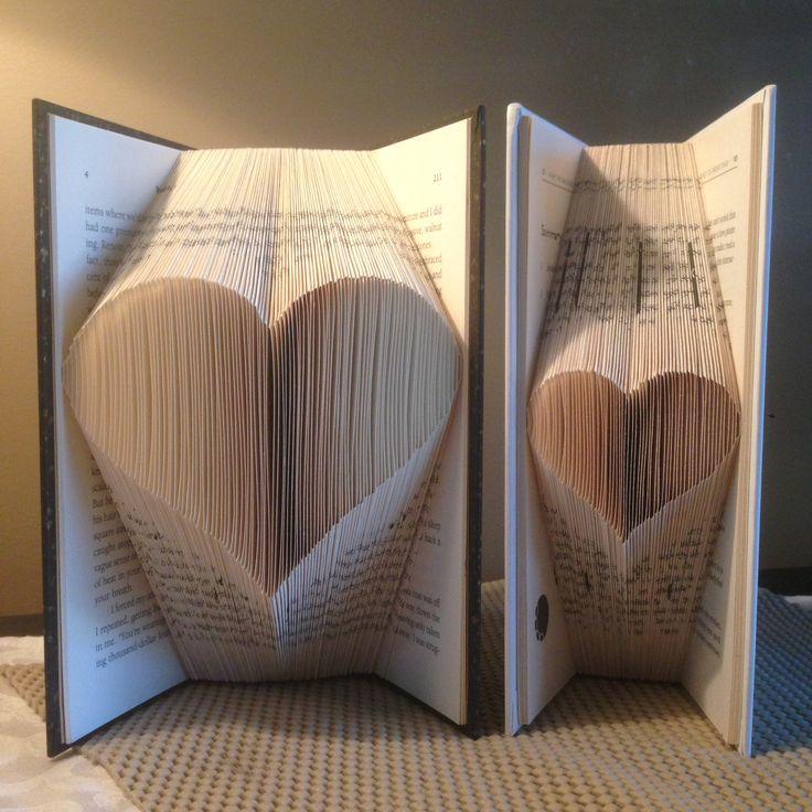 Heart, Mini Shadow Book, Folded book art