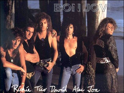 Bon Jovi~My FAVORITE band in the 80's and 90's!
