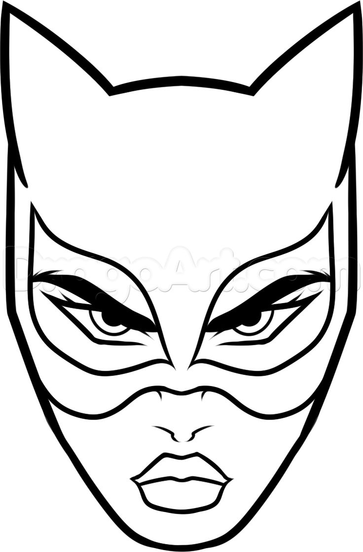 masque catwoman à imprimer - Recherche Google