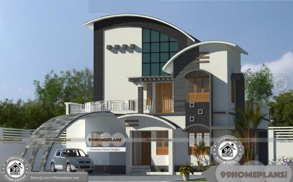 New Modern House Designs In Kerala With Unique Variety Model Plans Modern House Design New Modern House Home Door Design