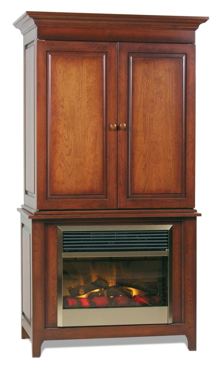 Amish Lancaster Fireplace Entertainment Center Electric