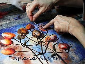 Мастер класс по мокрому валянию косметички с акварельным рисунком - Ярмарка Мастеров - ручная работа, handmade