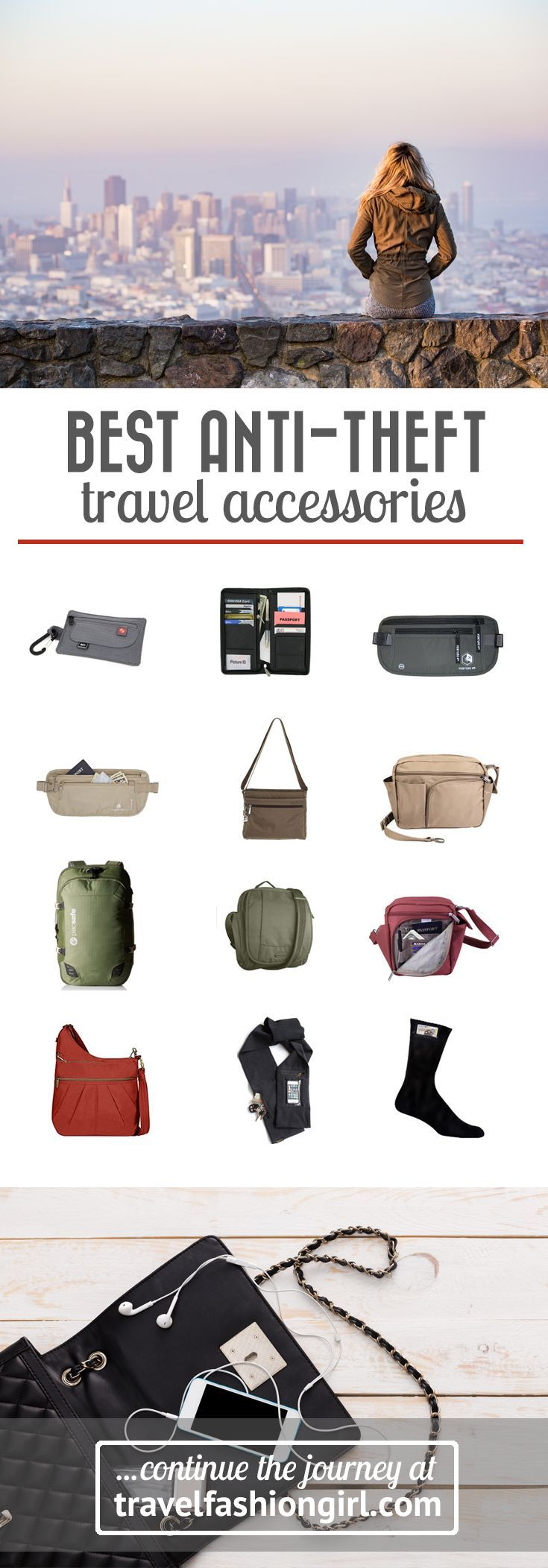 Safety is a big concern for travelers, no matter the destination or the length of the journey. /travlfashngirl/ has the best anti-theft accessories and bags for your travels. | http://travelfashiongirl.com