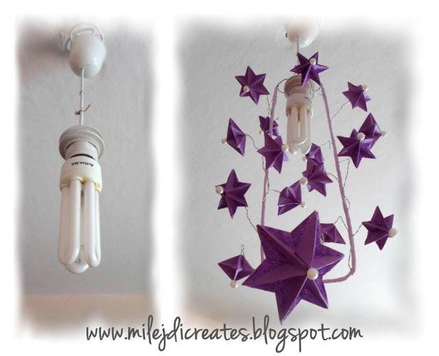 DIY - Zrób to sam, Handmade, Upcykling, Moda, Dekoracje, Inspiracje: Mój pomysł na żyrandol z gwiazdek origami 3D DIY /...