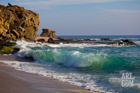 Laguna Beach Shore Break and Waves Photographic Print by Ben Horton at Art.com
