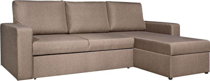 Софа-ліжко кутова VILS коричневий | JYSK