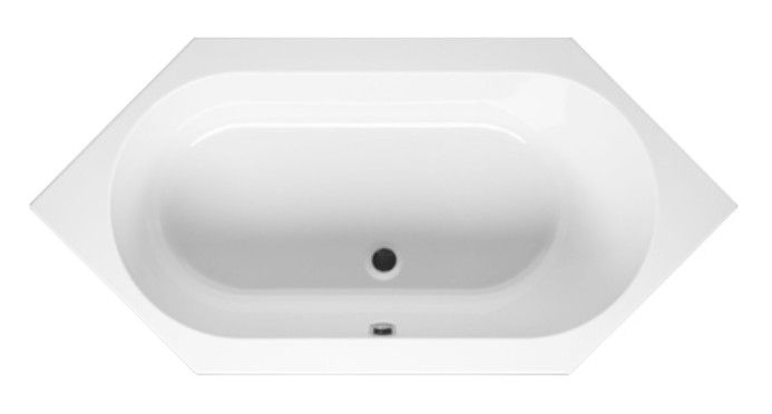RIHO KANSAS - #SYMMETRISCHE BADEWANNE 190 x 90 - BA97  Abmessungen: 190 X 90 Farbe: #Weiß Material: #Acryl #Form: symmetrische  #Badezimmer #Bad #Badeinrichtung #Badewanne #Wanne