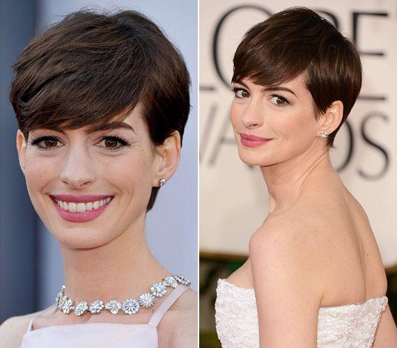 Anne Hathaway a Nyomorultak című film kedvéért vált meg hosszú hajától. Saját bevallása szerint eleinte kiborult a rövid haj gondolatától, de, amint nőni kezdtek picit a fiús tincsek, és a fodrásza megtalálta számára ezt a nőies pixie-fazont, máris megbékélt új külsejével, sőt, ezt a csajosan elegáns frizurát nagyon megszerette.