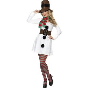 Ladies Miss Snowman Costume - £23.99