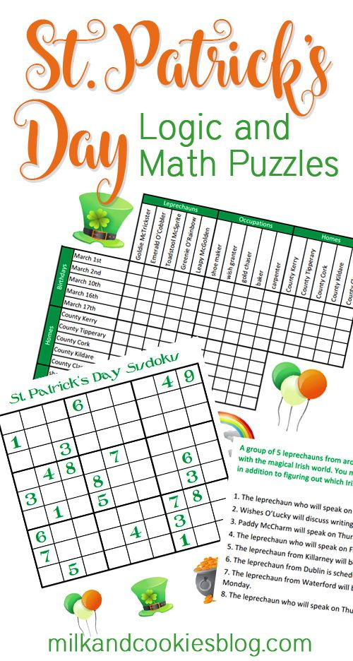 St. Patrick's Day Math and Logic Puzzles