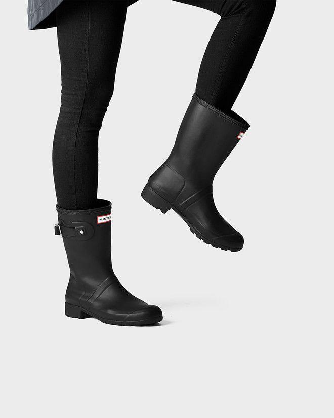 Benefits of short rain boots | Black hunter boots, Hunter