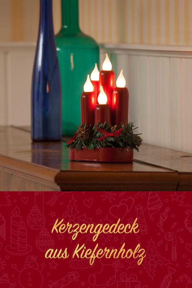 Weihnachtsbeleuchtung Innen Kerzen.Merxx 5tlg Kerzengedeck Rot Innen Mit Nachgewiesener