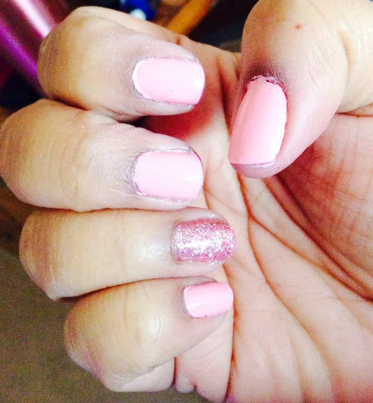 Pink blink from Sally Hanson Insta-Dri and Pink Angel from NK Nail Enamel