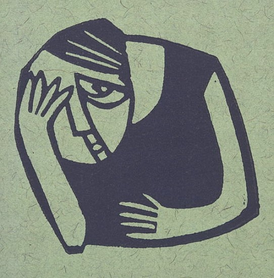 Willie  Rodger-Wee Hangover (lino print)