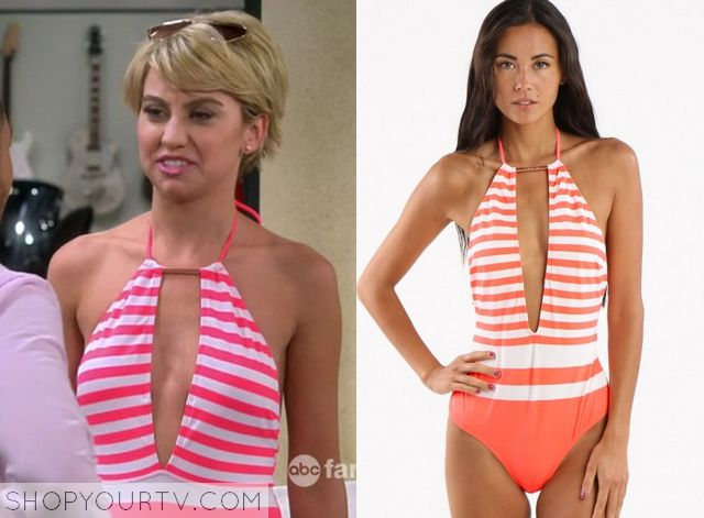 Baby Daddy: Season 4 Episode 11 Riley's Red/White Striped One Piece