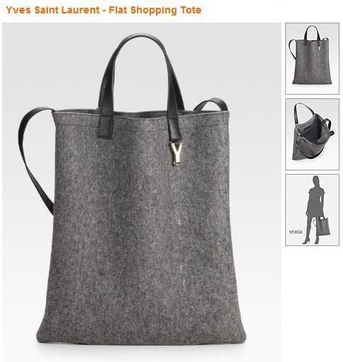 ysl black wool handbag