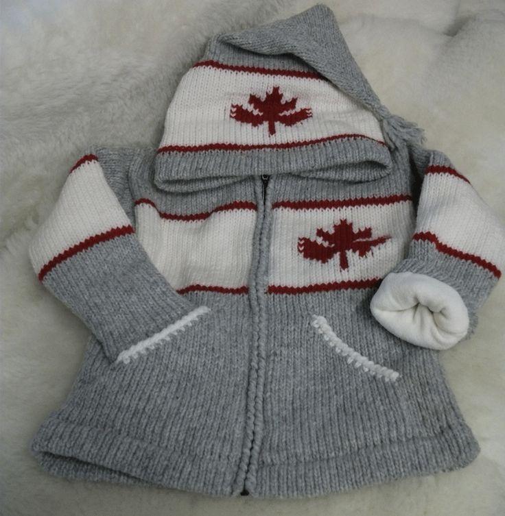 Children's Canada hand knit wool sweater