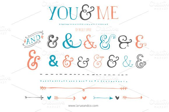You & Me (Vector) ~~ Awesome for wedding or invitation graphics. Delivered as an Illustrator CS3 file.