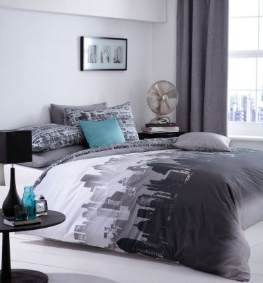 Pościel dwustronna Cityscape #bedding #textiles #home #inspiration #dream #pillow #cases #sypialnia #bedroom