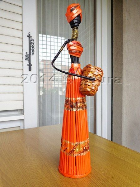 Фото мастер-класс. | Плетение из газет    МК Африканки с просторов интернета. http://vk.com/mctarasova?w=wall-66000009_1091