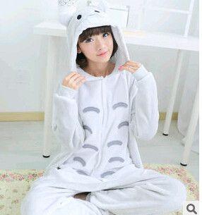 Totoro pajamas women Onesies for adults Flannel Animal pajamas Totoro sleepwear femmei/mujer pijamas enteros de animales