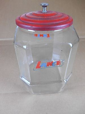 Vintage Lance Cracker Cookie Glass Store Countertop Counter Display Jar