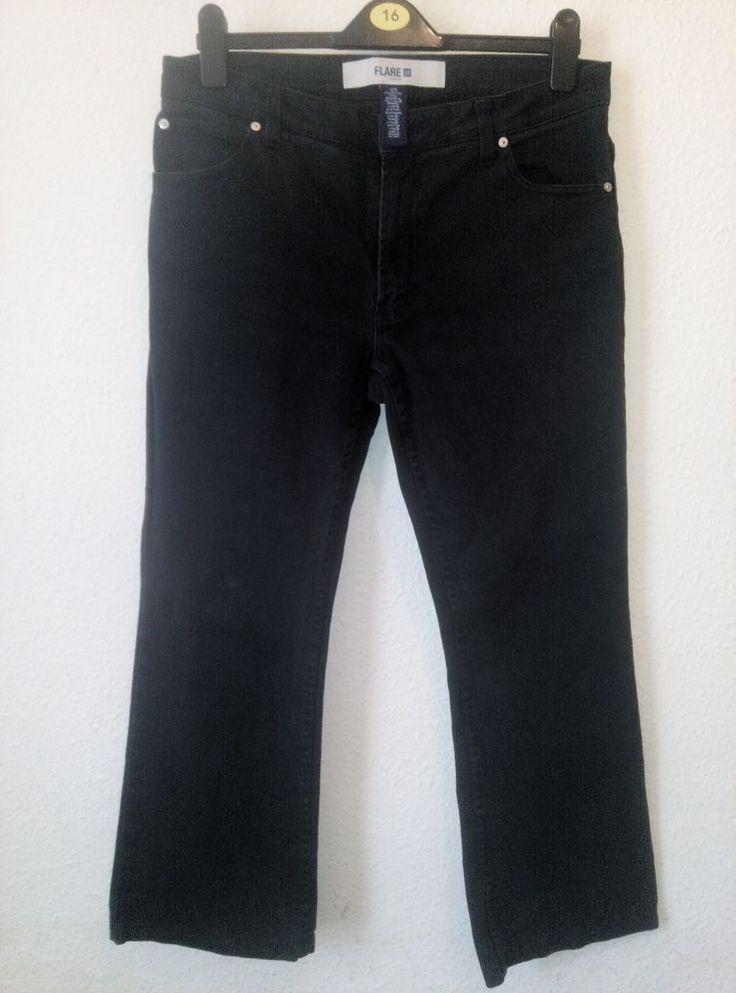 Gap Black Stretch Denim Flared Jeans Great Quality Size 12R