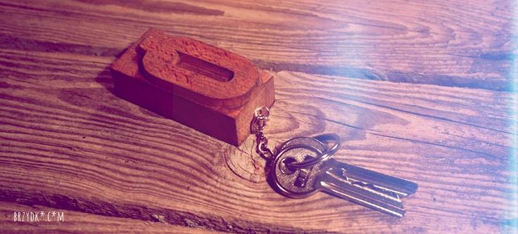 letterpress keychain