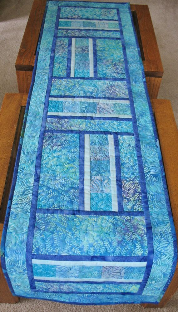 Batik Table Runner Gorgeous Blues Quilts Table Runners
