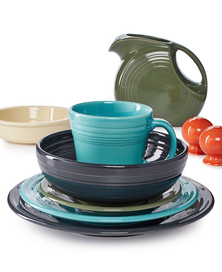 Fiesta Dinnerware in Lapis and Sunflower -19 oz Medium Bowl -12 oz Java  sc 1 st  Pinterest & 214 best Fiesta Dinnerware images on Pinterest   Dinner ware ...