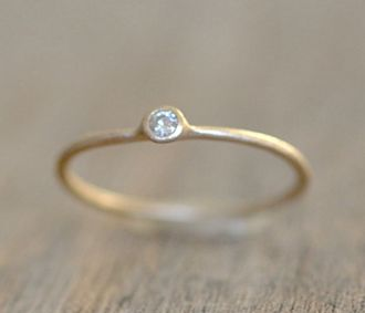 Gold Moissanite Ring
