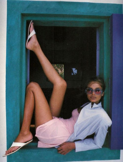 """80s-90s-supermodels: """"Pale Fire"""", ELLE US, May..."""