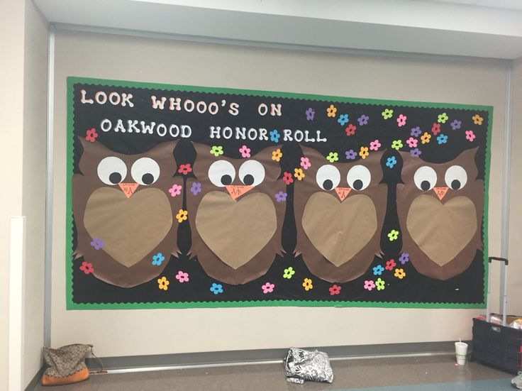 5th six weeks' honor roll bulletin board, owls