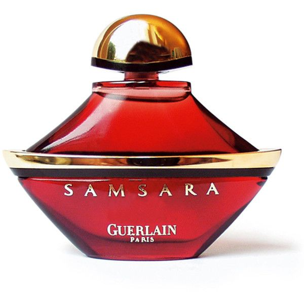 Guerlain Samsara Parfum ($210) ❤ liked on Polyvore featuring beauty products, fragrance, perfume, beauty, perfume bottles, makeup, citrus fragrances, heart perfume, guerlain and red fragrance