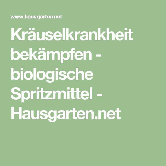 Kräuselkrankheit bekämpfen - biologische Spritzmittel - Hausgarten.net