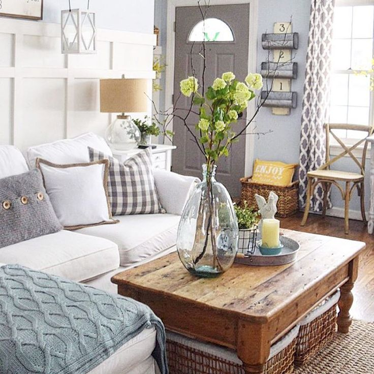 See this Instagram photo by @finishingtouchdecorbyjenny  1,486 likes.  Country Living Room RusticCottage ...