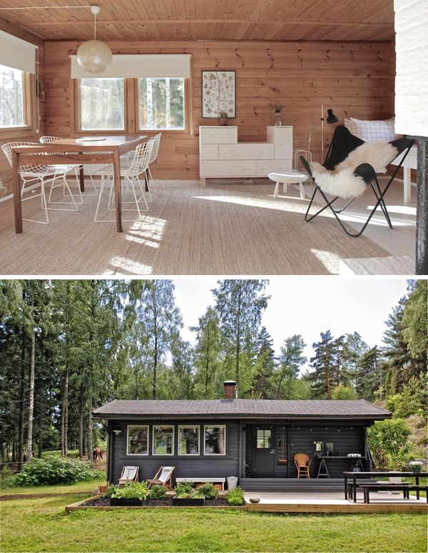 A COZY FINNISH HOLIDAY CABIN | THE STYLE FILES Vege garden built into deck.