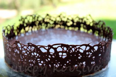 Πώς φτιάχνουμε σοκολατένια δαντέλα για τούρτες | μικρή κουζίνα | Bloglovin