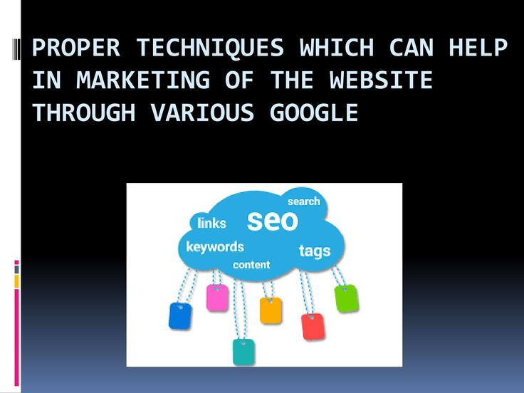 Proper techniques which can help in marketing of the website through various…