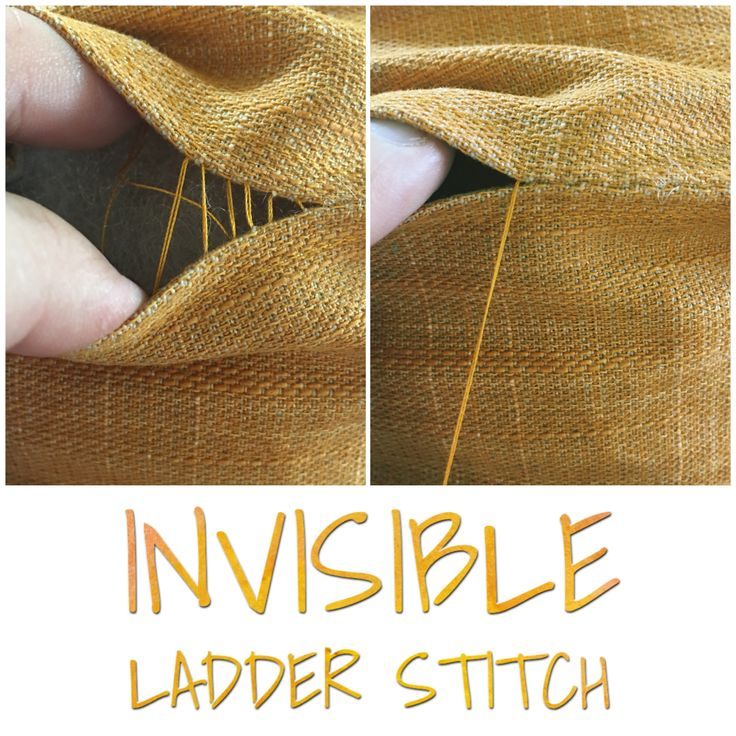 Invisible ladder stitch - sewing tips