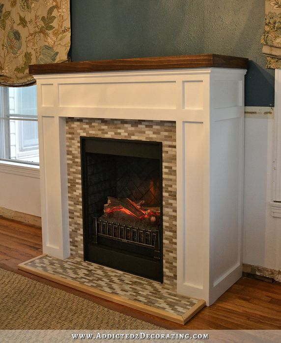 Diy Fireplace Finished Craftsman Fireplaces And This Is Awesome