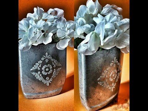 MartinMuñoz y un florero efecto cinc metalico increible!
