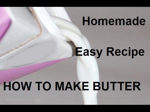 How to Make Butter from Raw Milk   Easy Recipe