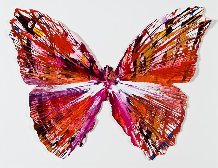 Damien Hirst, spin painting butterfly