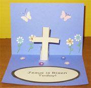 Easter Jesus Is Risen Pop-up Card