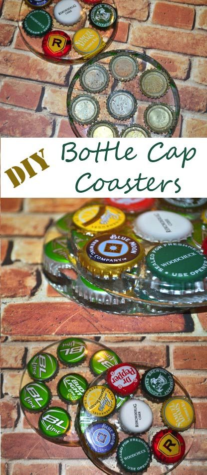 DIY Bottle Cap Coaster tutorial. Great gifts for beer lovers!