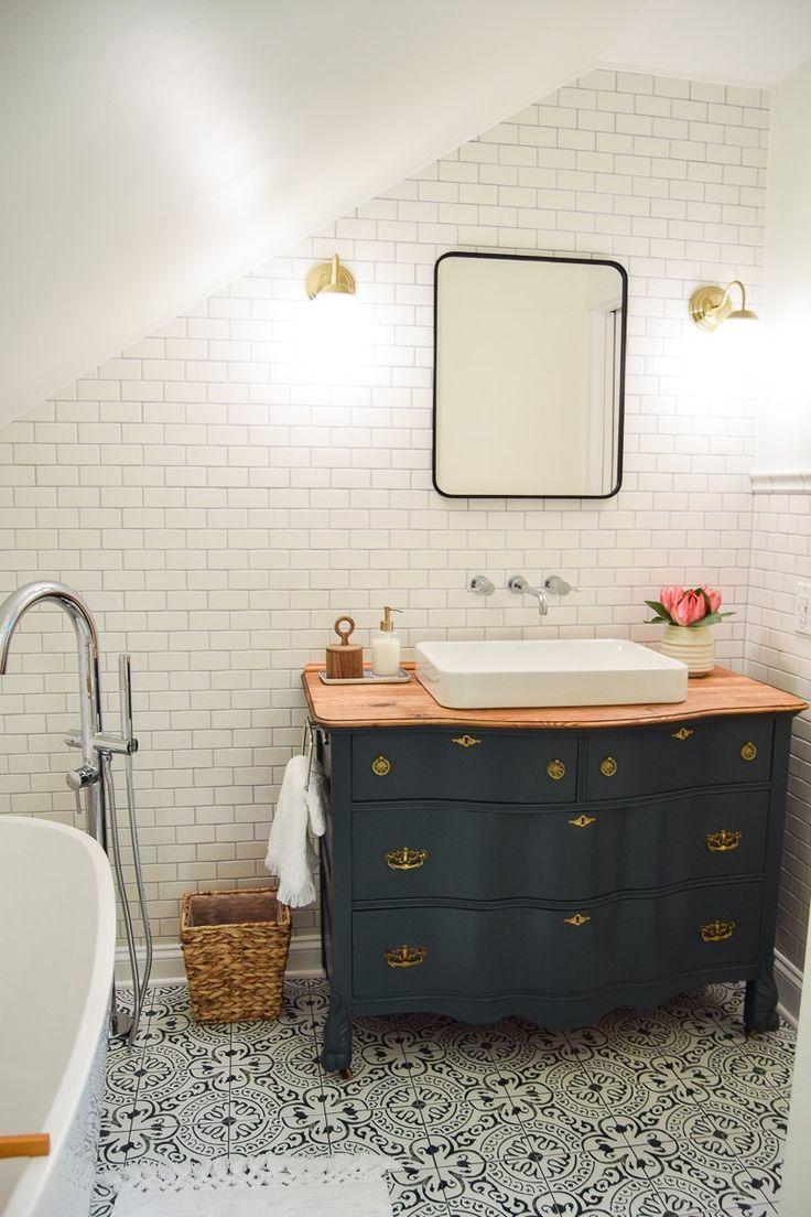 Our Modern and Vintage Master Bathroom Reveal -   Beautiful Bathroom ...
